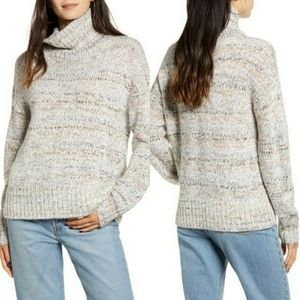 Chelsea28 Marled Knit Mock Neck Sweater
